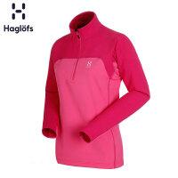 Haglofs火柴棍户外女款半拉链舒适保暖抓绒衣601553 欧版