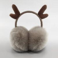 耳罩保暖耳套女冬季保暖耳捂防寒耳罩可伸�s可�鄱�套圣�Q鹿角耳罩