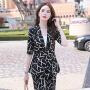 【产地直销,小二推荐】黑色西装女套装时尚韩版英伦风秋冬职业装女士正装休闲总裁小西服