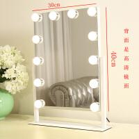 方形大号台式led化妆镜带灯梳妆镜高清化妆补光镜欧式结婚公主镜