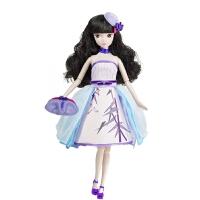手工时尚中国风紫竹调女孩洋娃娃10关节体
