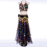 2017新款 性感印度舞蹈服装表演裙 肚皮舞文胸大人演出服套装 均码
