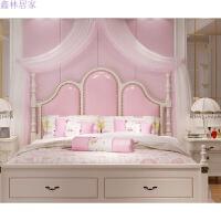 美式床欧式床双人1.8米床卧室床家具床简欧床公主床主卧床 四件套【床 乳胶床垫 2*床头