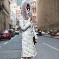 海宁皮衣真皮羽绒服女中长款冬装新款韩版修身绵羊皮加厚外套