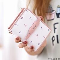 小钱包女短韩版学生零钱包迷你折叠卡包女士抽带钱夹女Q6