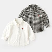 男童衬衫春秋宝宝纯棉衬衣春季儿童上衣长袖