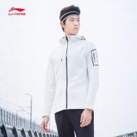 李宁卫衣男士新款训练系列开衫长袖外套连帽修身夏季运动服AWDN367