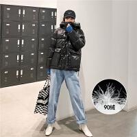 七格格羽绒服女2019新款冬季韩版时尚白鸭绒加厚中长款黑色外套潮