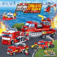 开智积木兼容乐高拼装城市消防车系列男孩子玩具6儿童8益智10岁12