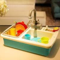 儿童电动洗碗机男女孩玩具自动出水宝宝过家家厨房小水池仿真套装 清洁洗碗机