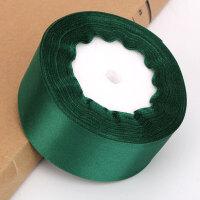 丝带手工DIY玫瑰花材料包4cm宽缎带制作花束套装包装纸纱套装彩带 抖音 墨绿色 宽4cm长约22米