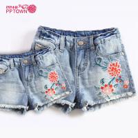 童装女童牛仔短裤夏季新款韩版中大童百搭儿童裤子
