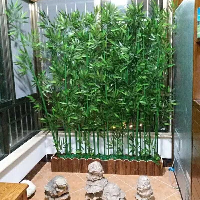 盆栽假绿植 假竹子室内装饰隔断屏风竹子玄关酒店橱窗盆栽竹子绿植