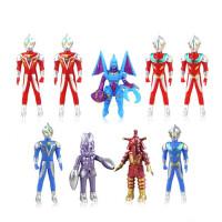 奥特曼披风百变超人 机器人模型玩具九只礼盒装