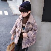 男童冬装呢子大衣儿童洋气秋冬毛呢外套中大童中长款