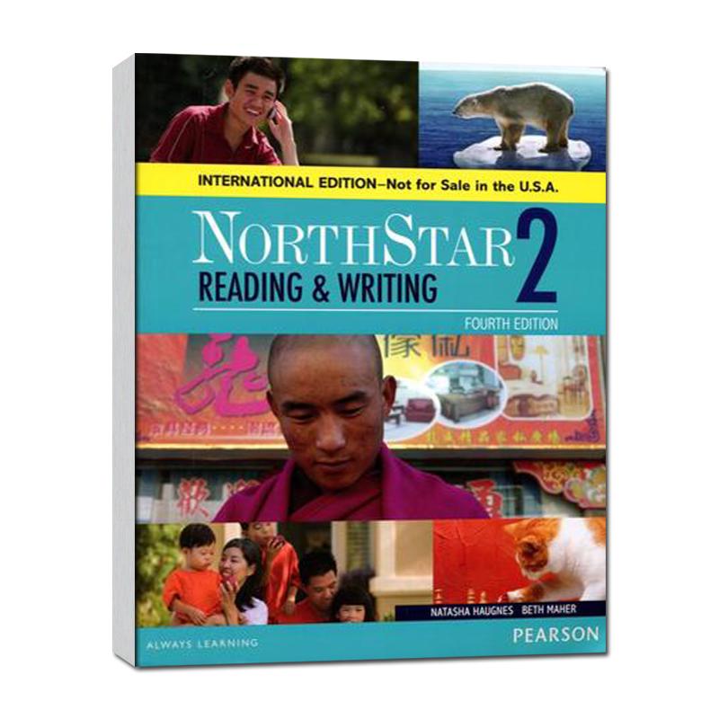 培生原版进口欧美主流英文教材托福雅思出国综合英语课程 North Star 北极星 读写学生用书第2级 国际版第4版 高中大学成人
