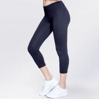 七分紧身裤女弹力翘臀瑜伽裤跑步训练健身提臀运动裤蜜桃裤