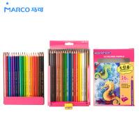 Marco马可油性彩色铅笔12色24色36色儿童绘画铅笔马克彩铅4100