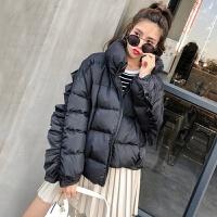 秋装新款韩版荷叶边宽松棉衣外套女装短款面包服女冬显瘦