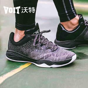 沃特2017新款夏季轻便战靴水泥地篮球鞋男低帮耐磨透气网面球鞋