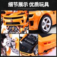 玩具大黄蜂机器人超大变形玩具金刚5警车擎天变身柱模型男孩