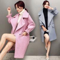 秋冬装新款大码女装秋冬季中长款毛呢大衣外套女 8095