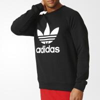 Adidas阿迪达斯 三叶草系列 男子 圆领套头衫 运动卫衣AY7791