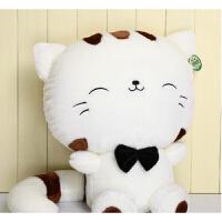 京朝毛绒玩具猫猫玩偶可爱布娃娃抱枕猫咪公仔大号创意生日毕业礼物