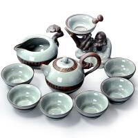 唐丰 开片瓷器仿哥窑 陶瓷整套功夫茶具套装茶壶茶海礼品盒装