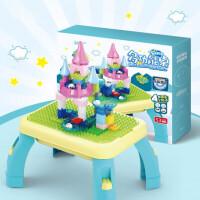 �和��e木玩具 多功能家用幼��@�e木桌�W�游�蜃�����和�益智早教�Y盒�b生日�Y物 收�{桌