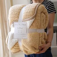 出口北欧毛毯被子加厚冬季双人双层羊羔绒厚毯子单人学生保暖盖毯 180x200cm(4.3斤)