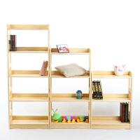 惠万家实木书架简易松木书架置物架落地多层自由组合书柜储物架子