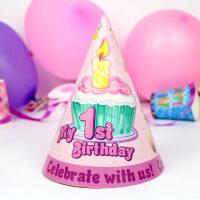 儿童生日派对布置用品生日派对帽子儿童生日派对布置装饰用品尖角帽宝宝周岁帽