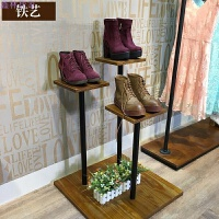 铁艺包包架服装架 橱窗设计展示柜服装店鞋架展示架 实木流水台 长50*50*高80