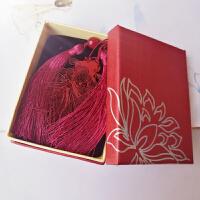 古典中国风镂空金鱼 精密不锈钢礼品书签