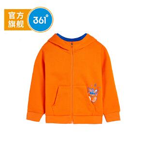 361度 童装男童外套针织开衫2018秋季新品儿童衣服小童卫衣 N51834402