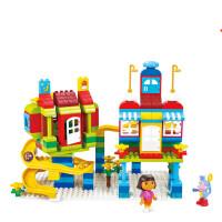 儿童积木玩具 森林公园拼插玩具积木大颗粒宝宝儿童早教益智礼盒装生日礼物 森林乐园 225PCS