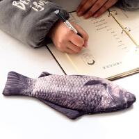 韩国仿真鱼笔袋 创意男女学生文具袋海鱼记个性鲫鱼铅笔盒咸鱼笔袋