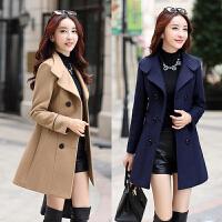 反季处理女装毛呢外套女中长款 中年30-40-50岁淑女气质呢子大衣