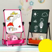 宝宝儿童画板双面磁性小黑板可升降画架支架式家用涂鸦写字板白板