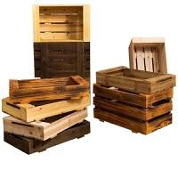 红酒木箱储物箱实木特大号花盆水果收纳木箱子长方形复古木箱定制