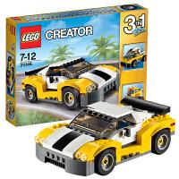 乐高LEGO creator系列高速跑车31046小颗粒积木玩具三种拼法