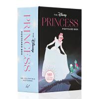 迪士尼公主100张公主人物明信片礼盒装 英文原版 The Disney Princess Postcard Box 迪士