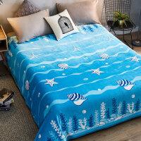 【支持礼品卡】冬季加绒毯子珊瑚绒床单人 法兰绒毛毯加厚保暖学生宿舍铺床被子 1yh