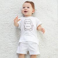 婴儿短袖套装夏季内衣初生儿男女宝宝睡衣