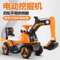 儿童挖掘机玩具车可坐人可骑超大号电动挖土机钩机男孩充电工程车