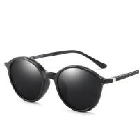两用磁吸套镜圆框近视太阳镜女男偏光磁铁吸夹片墨镜开车驾驶眼镜