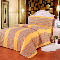 结婚老粗布家纺床品四件套 全棉床上用品4件套 床单被套枕套