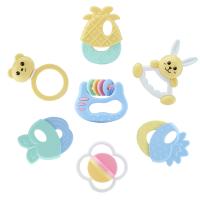 幼儿玩具手摇铃宝宝牙胶套装6-12个月0-1-2-3岁