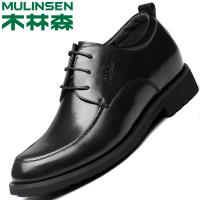 木林森男鞋秋季商务休闲鞋男士皮鞋男真皮英伦新款正装内增高鞋子